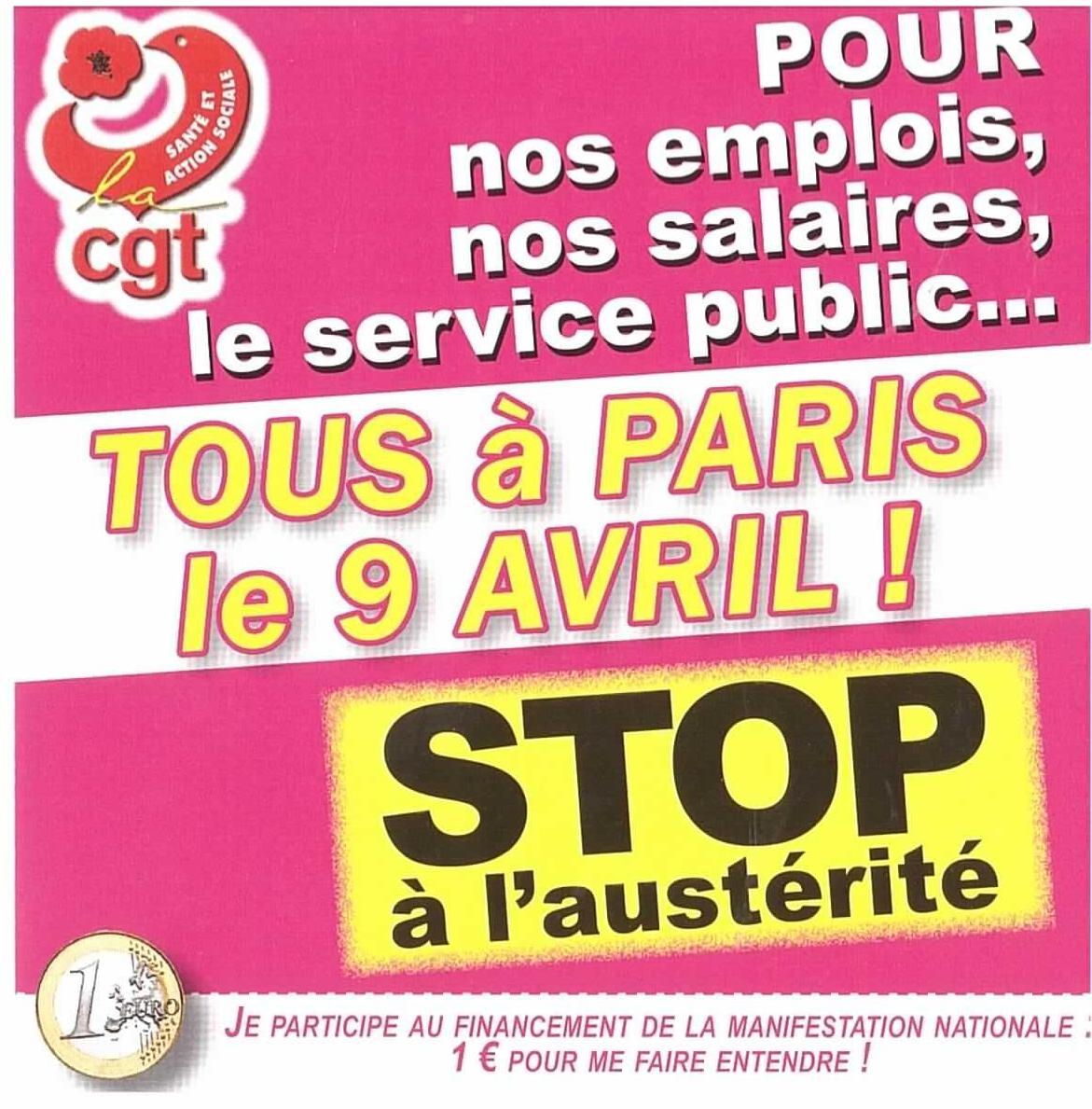 Tous à Paris le 9 Avril !